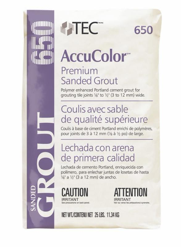 TEC AccuColor 927 Lt Pewter 25lb Sanded Grout