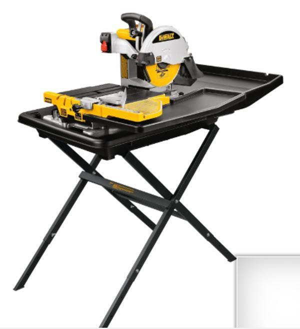 "DeWalt-D24000S-10""-Wet-Tile-Saw-with-Stand"