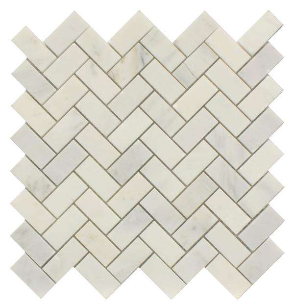 Arabescato Mos Herringbone Honed 12x12