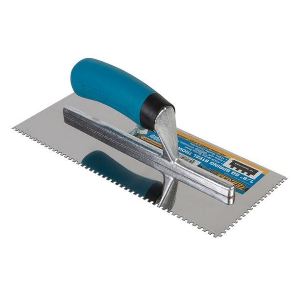 Trowel 1/8 x 1/8 Square Notch Stainless Softgrip