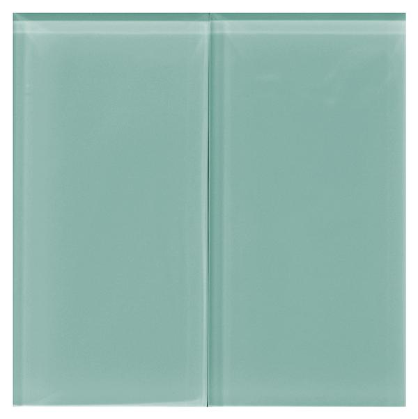 Aqua 8 mm Glass Tile 3x6