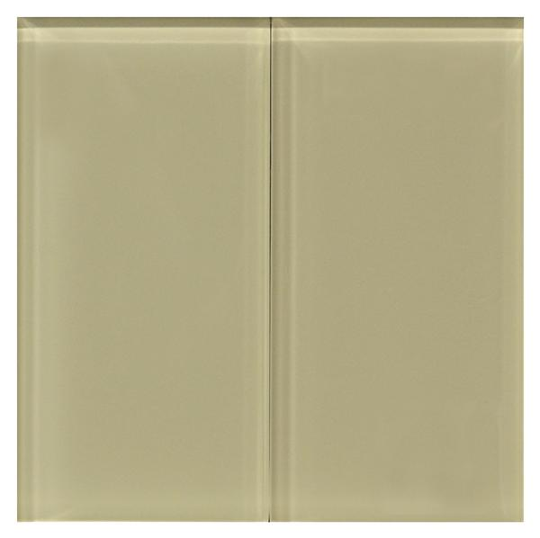 Beige 8 mm Glass Tile 3x6