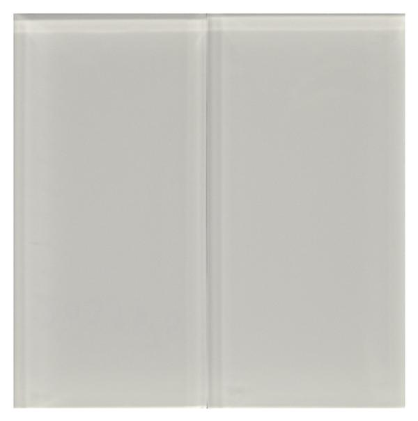 White 8 mm Glass Tile 3x6